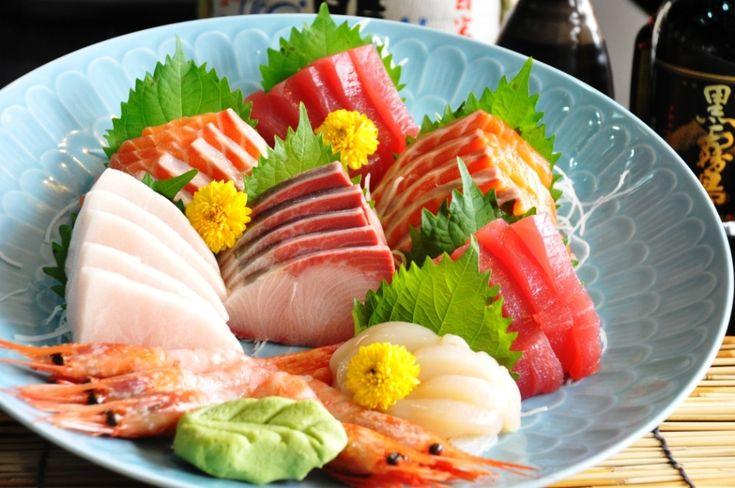 Japanese sashimi platter