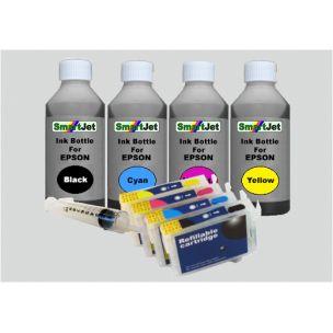 Epson T-1291, 1292, 1293, 1294 Επαναγεμιζόμενα μελάνια Black,Cyan,Magenta,Yellow