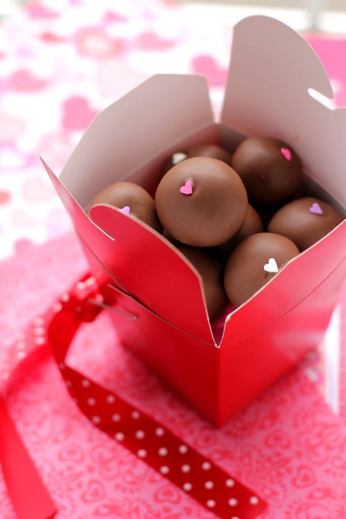 Red Velvet Cheesecake-Stuffed Cake Balls