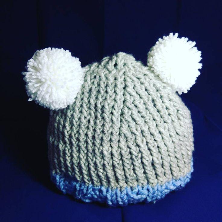 "#handmade #knitting #knitwear #hat #hatknitting #needles #knitcap #cap #acrilyc 70%#wool 30…"""