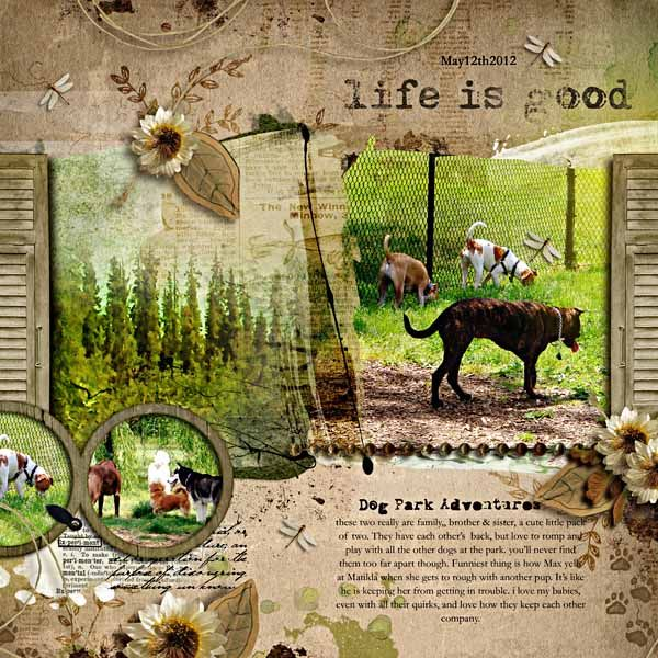 Anna Aspnes Daily Digi Artsy Layered Template Raspberry Road Designs Garden Fresh, Nature Retreat, Tackle Box