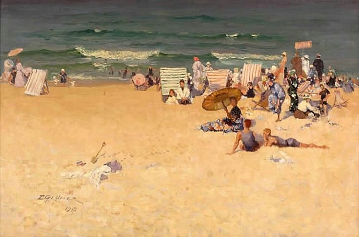 Elioth Gruner. The Beach. 1918