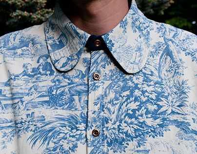 """""""The Classicism Picnic Shirt"""" is one of many projects, which has the purpose to improving my sewing skills. The shirt is one of my own designs, and the fabric is bought in Paris."""