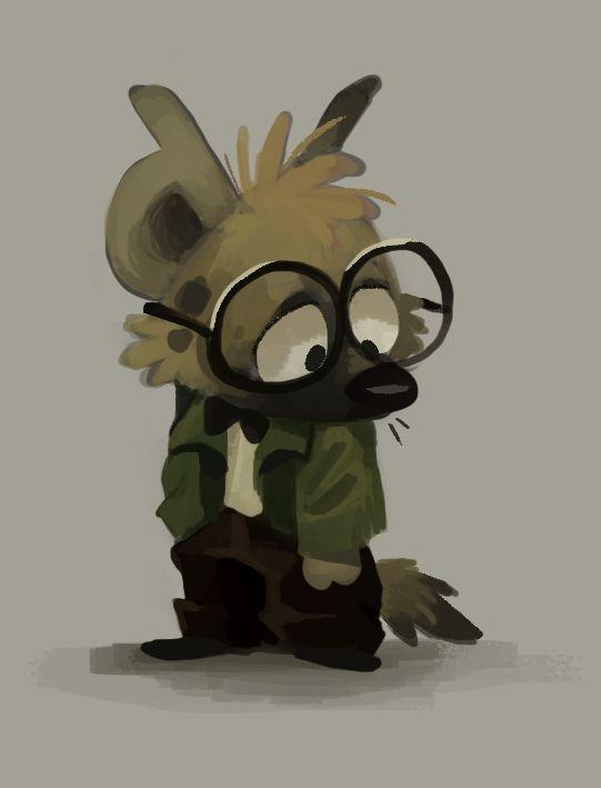Hugo by Frozenspots.deviantart.com on @DeviantArt #hyena Colored an old doodle!