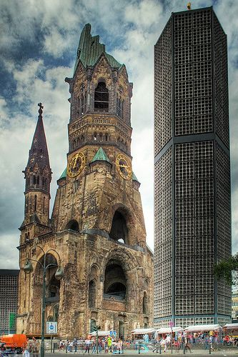 Alemania. Gedachtniskirche, Blue Church, Berlin