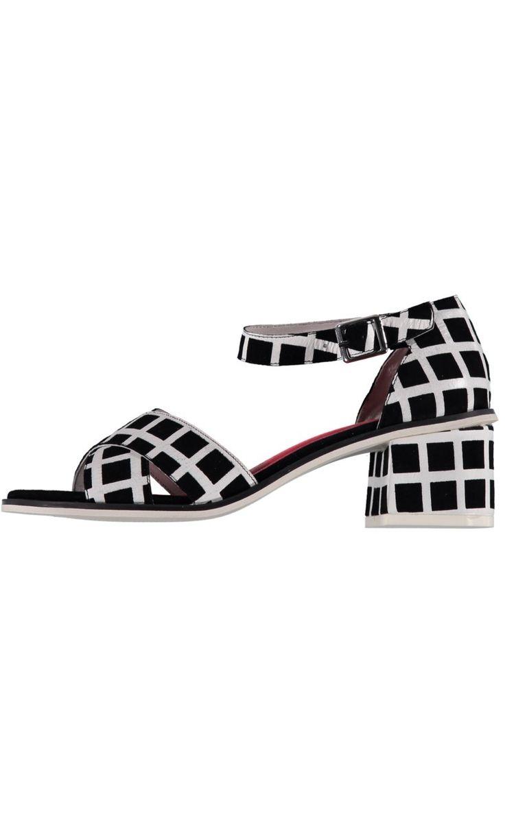 Grid Lock Heels - Black/White