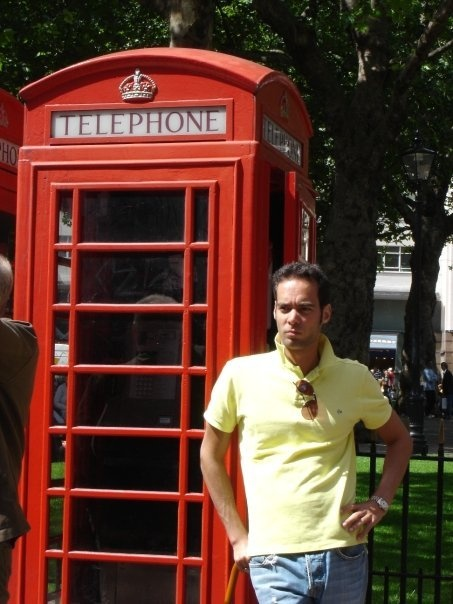 Josh, my son, in London...