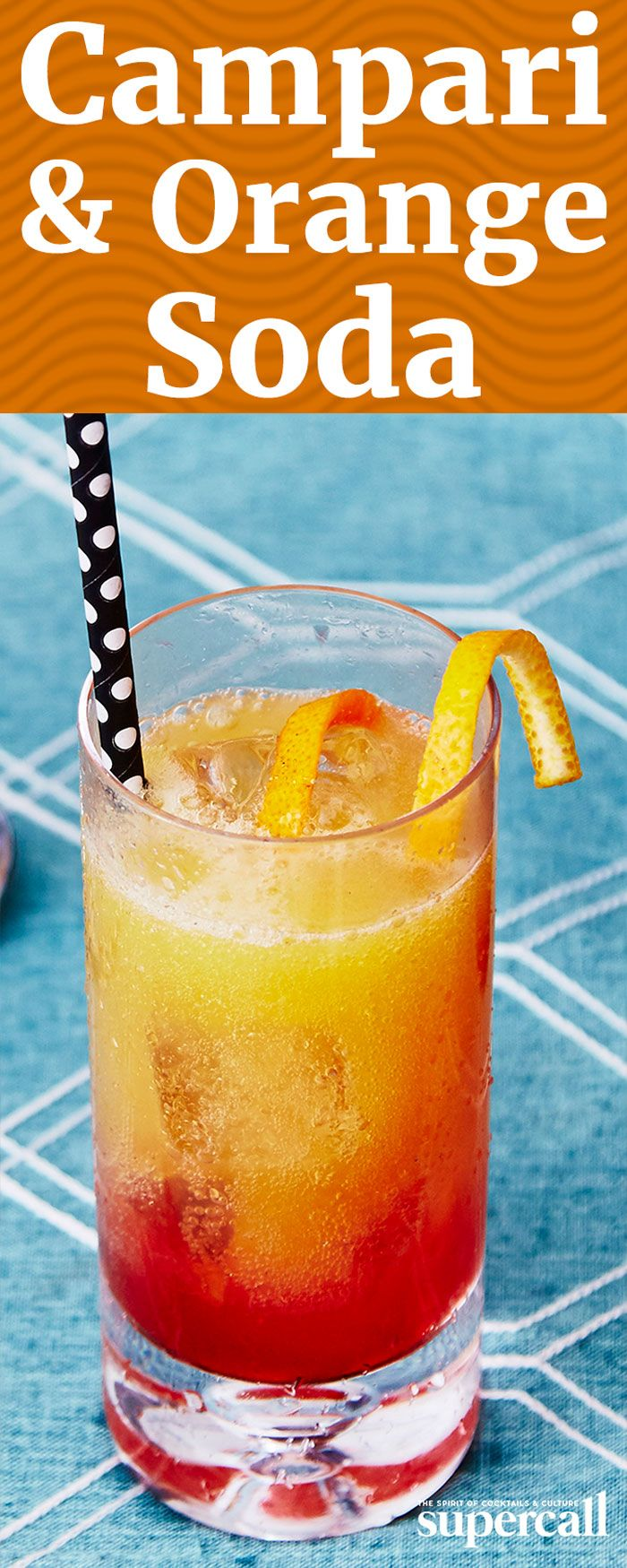 A simple mix of Campari and soda is an easy, delicious refresher—but Campari and orange soda is even better. Simple as it is, the combo has just as much depth of flavor as more complex cocktails. There's a blast of bright citrus on the first sip, with layers of bitterness and frothy orange sweetness, finishing with Campari's signature herbal kick.