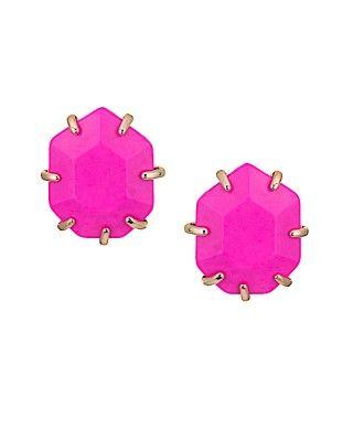 Morgan Stud Earrings in Magenta - Kendra Scott Jewelry. Available January 22, 2014.