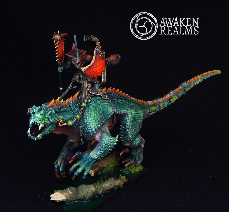 Lizardmen Saurus Oldblood on Carnosaur