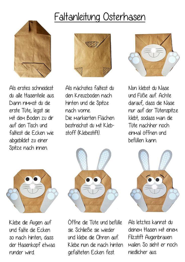 DIY Osterhasen zum selber basteln und befüllen - ein Geschenk von Herzen - zu Ostern Osterhase: Amazon.de: Bürobedarf & Schreibwaren