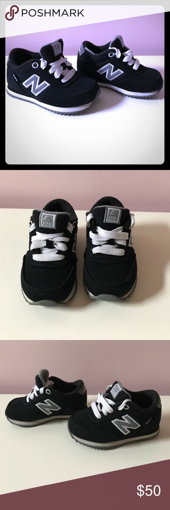 🚨SALE! 🚨CLOSET CLEARANCE! Toddler New Balance shoes! Barely worn!!! Excellent condition. Black/grey/white. Size: 5. New Balance Shoes Sneakers