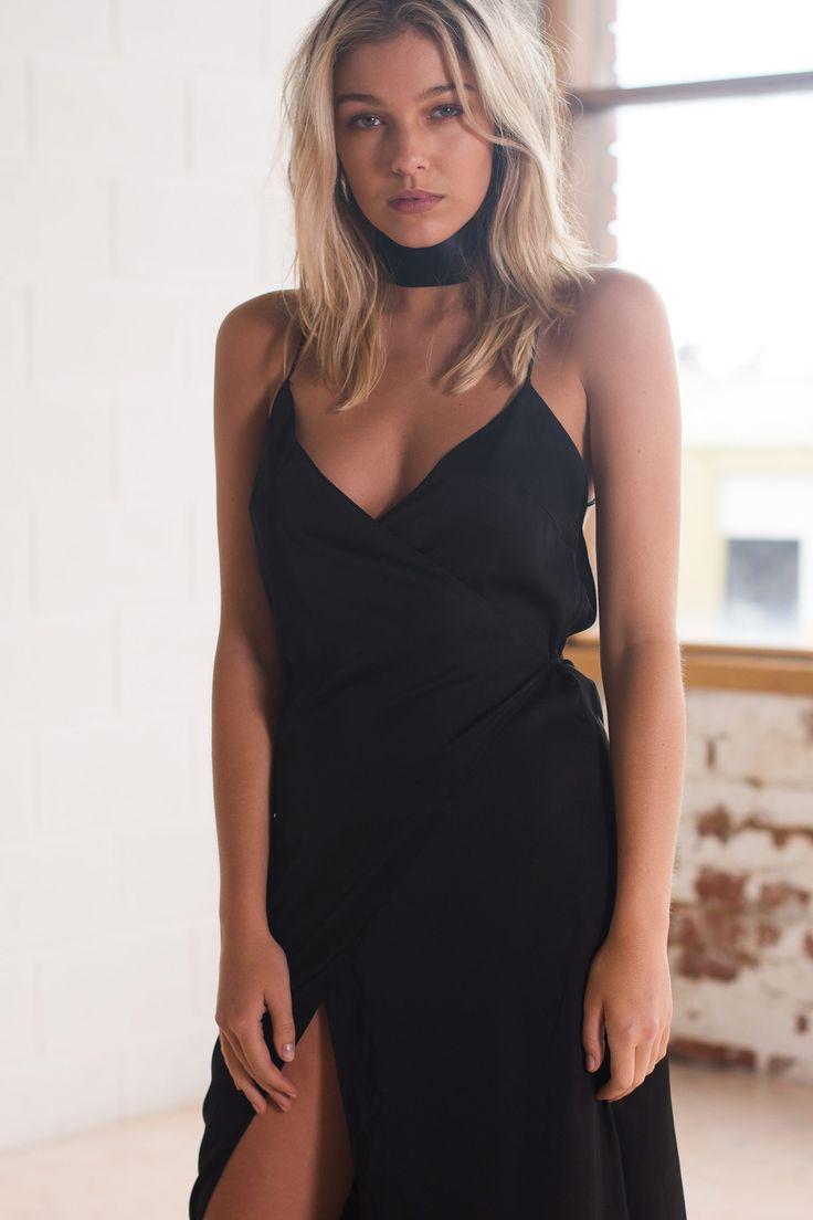 Helena Wrap Dress | Black - Women's Clothing & Fashion Online – Style Addict