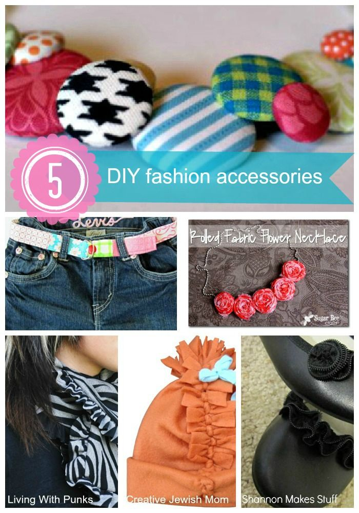 5 DIY Fashion Accessories from www.SomewhatSimple.com