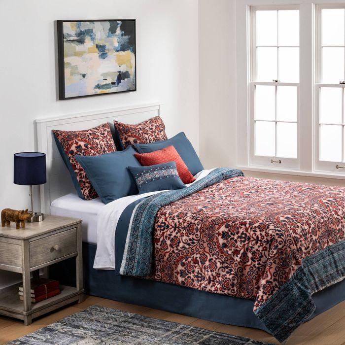 Threshold Monson 8pc Comforter Set In 2021 Comforter Sets Blue Bedding Comforter Bedding Sets