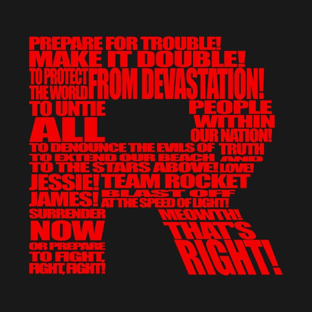 Awesome 'Team+Rocket+R' design on TeePublic!