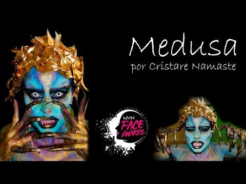 NYX FACE AWARDS 2017/ TUTORIAL MAQUILLAJE MEDUSA ( ELCHE ) SPAIN/グラムアイメイクアップ - YouTube