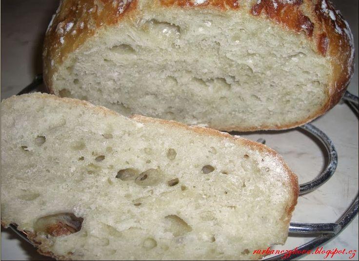 Tento skvělý recept na chléb bez hnětení jsem našla na fresh.iprima.cz/recepty FOODLOVER.CZ.http://rurbanczykova.blogspot.cz/2013/09/domaci-chleb-bez-hneteni.html