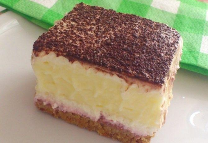 15 leheletkönnyű túrós-vaníliapudingos sütemény | NOSALTY