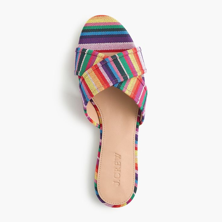 261d6a60deae Multistripe Cora Crisscross Sandals