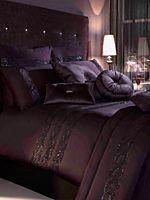 Sequin wave plum bed linen