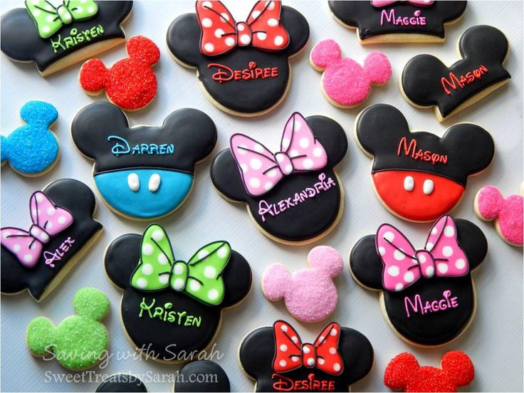 Personalized Mickeys And Minnies Sugar Cookies