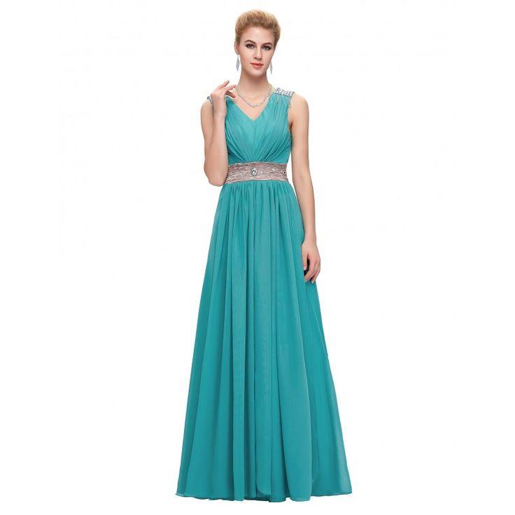 Modré spoločenské šaty CL3403
