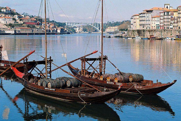 Rabelos boats - Porto, Porto... The place, where the wine Porto comes from...