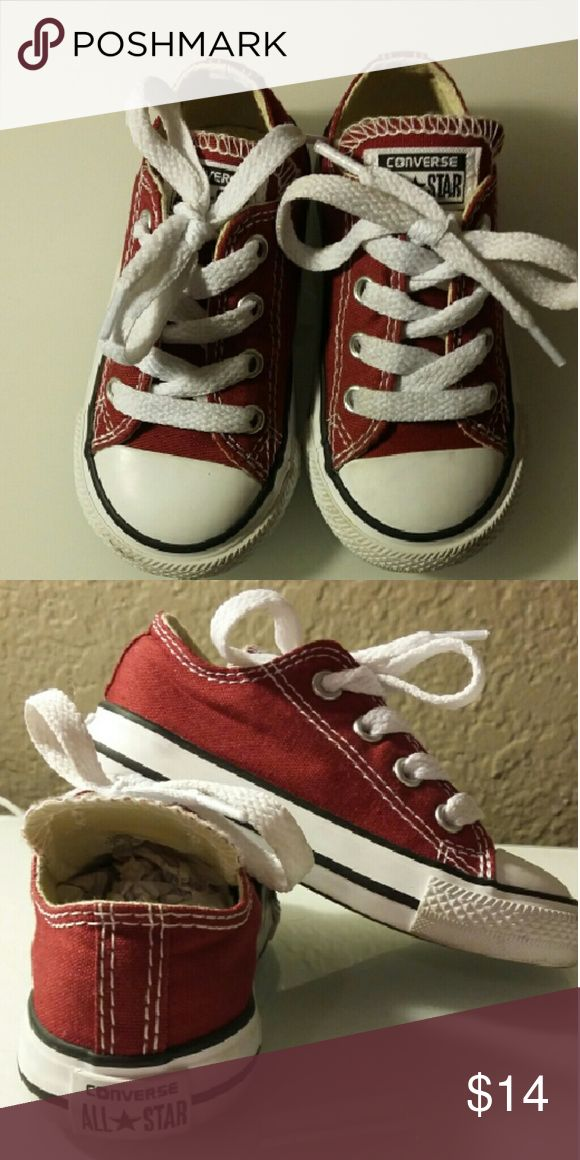 Red kids Converse All Star sneakers Converse All Star kids sneaker. Size 6. Excellent condition. Converse Shoes Sneakers