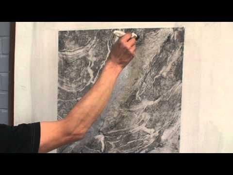 White marble imitation painting (part 2) - YouTube