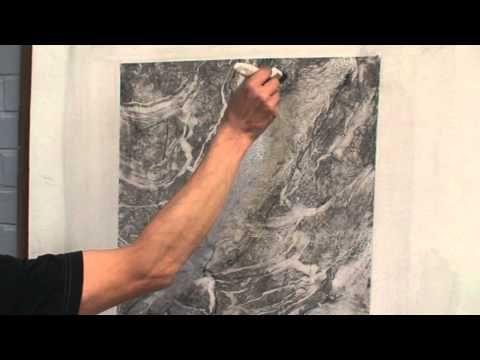 White marble imitation painting (part 2) - YouTube