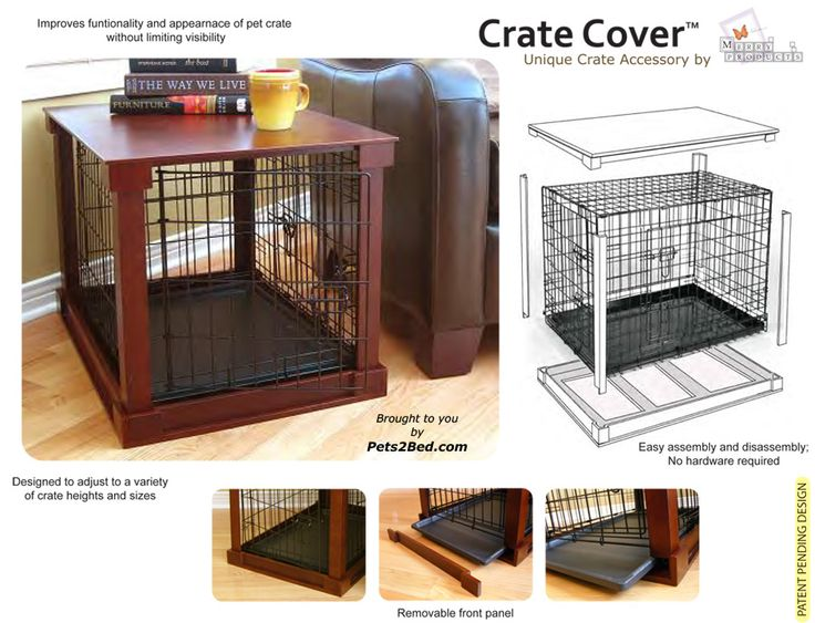 its a space saver and actually doesnt look bad!Dog crate cover
