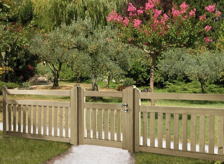 Fence, Fence Styles And Wooden Fences On Pinterest
