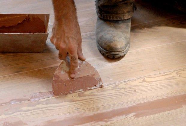 Minding The Gap Easy Diy Ways To Fill The Gaps Between Old Wood Floor Boards Old Wood Floors Wood Floors Refinish Wood Floors