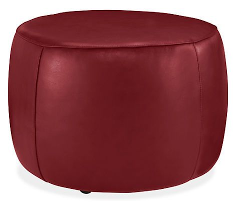 Lind Round Leather Ottomans - Cocktail Tables - Living - Room & Board $399.