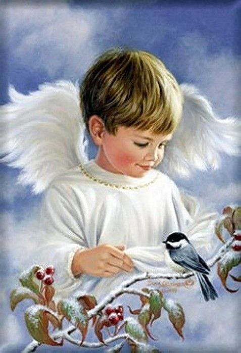男の子の天使。