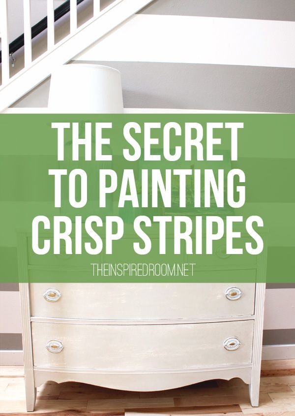 Simple instructions for how to paint crisp stripes on a wall