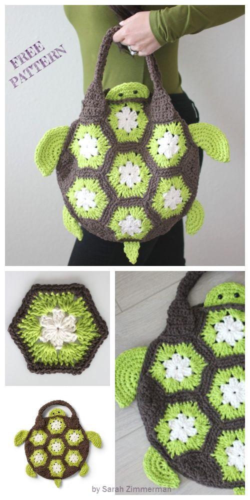 Crochet Sea Turtle Tote Bag Free Crochet Pattern