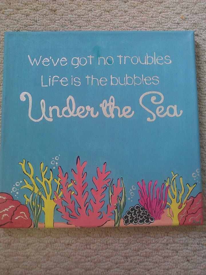 Lilly inspired little mermaid quote canvas