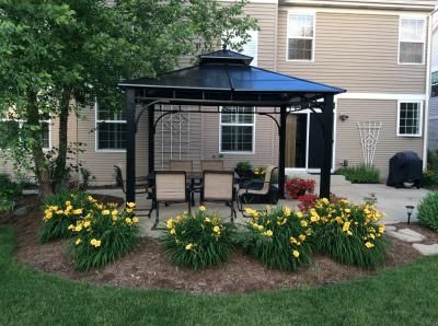 Allen + Roth Black Square Grill Gazebo (Foundation: X At Loweu0027s. Shade Your  Outdoor Get Togethers With This Hardtop Gazebo From Allen + Roth.