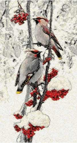 Winter bird photo stitch free embroidery design - Photo stitch embroidery designs - Machine embroidery community