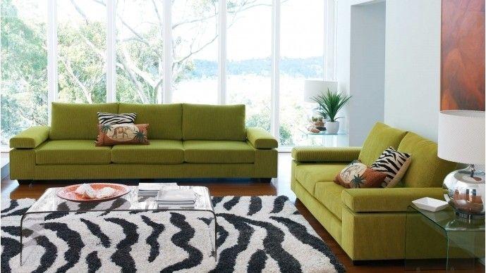 Vergo 3 Seater Fabric Sofa