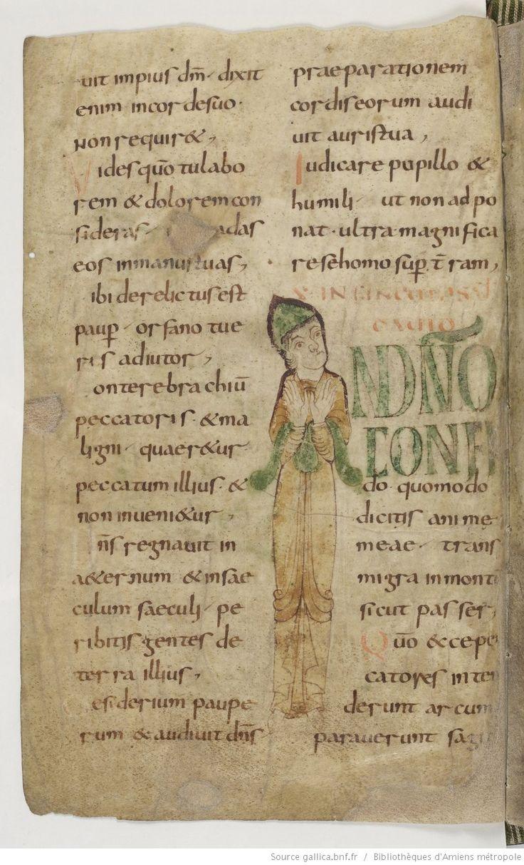 Amiens Bibliothèque municipale Ms. 18, Psautier, avec cantiques et litanies, fol. 9v