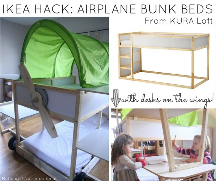 IKEA HACK: Airplane Bunk Beds