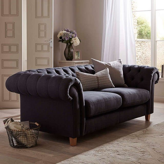 BuyJohn Lewis Cromwell Chesterfield Grand 4 Seater Sofa, Light Leg, Glyn Charcoal Online at johnlewis.com