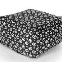 Black & White Peace Sign Ottoman: Signs Ottomans, Peace Signs, White Peace, Black White