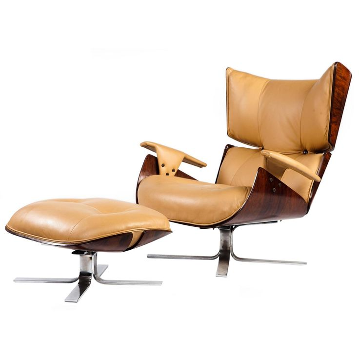 """""""Paulistana"""" Mid-Century Modern Lounge Chair and Ottoman by Jorge Zalszupin 