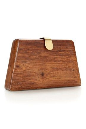 FRENCH CONNECTION COLLECTION OF WOODEN CLUTCHES