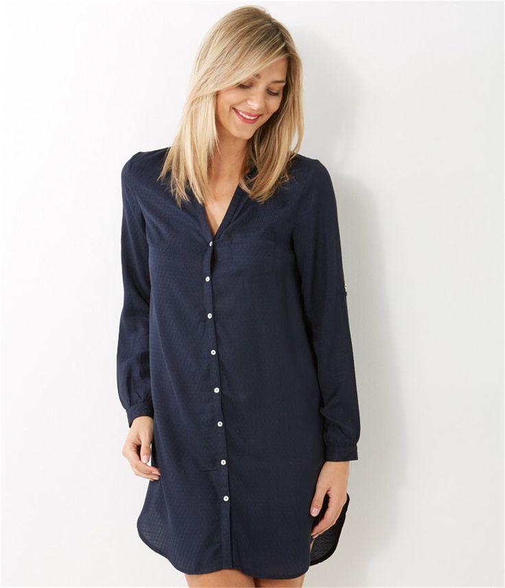 chemise de nuit femme chemisier homewear femmes cama eu my fashion work pinterest chemises. Black Bedroom Furniture Sets. Home Design Ideas