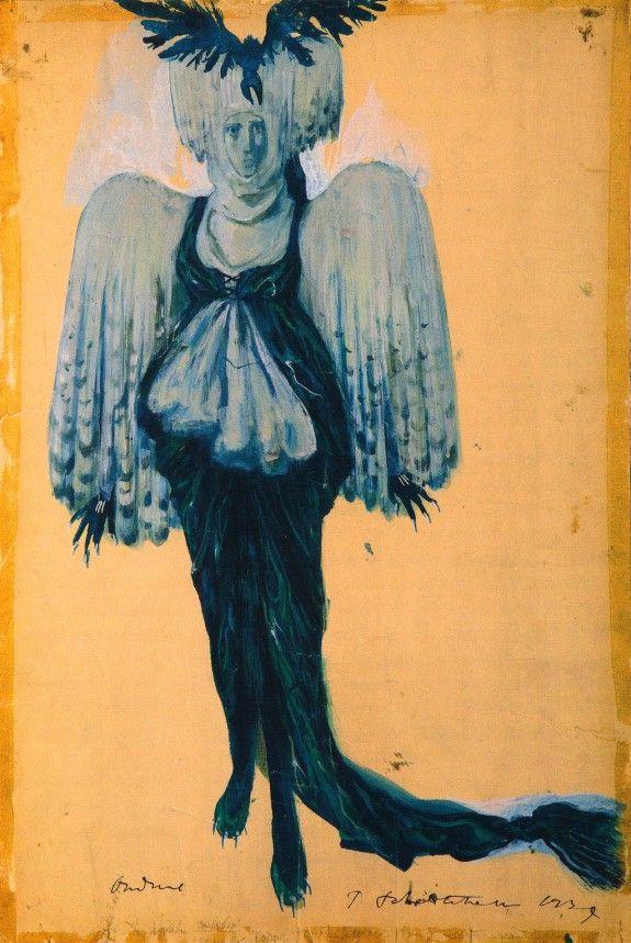 Челищев П.Ф. – Эскиз костюма Голубой птицы к неизвестной постановке. 1937.